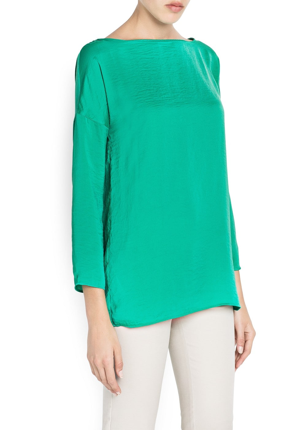 Flowing loose-fit blouse | MANGO