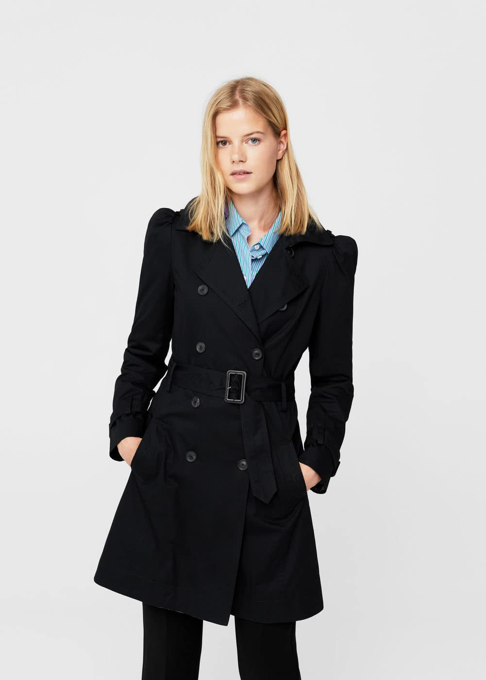 Puffed-shoulder trench | MANGO
