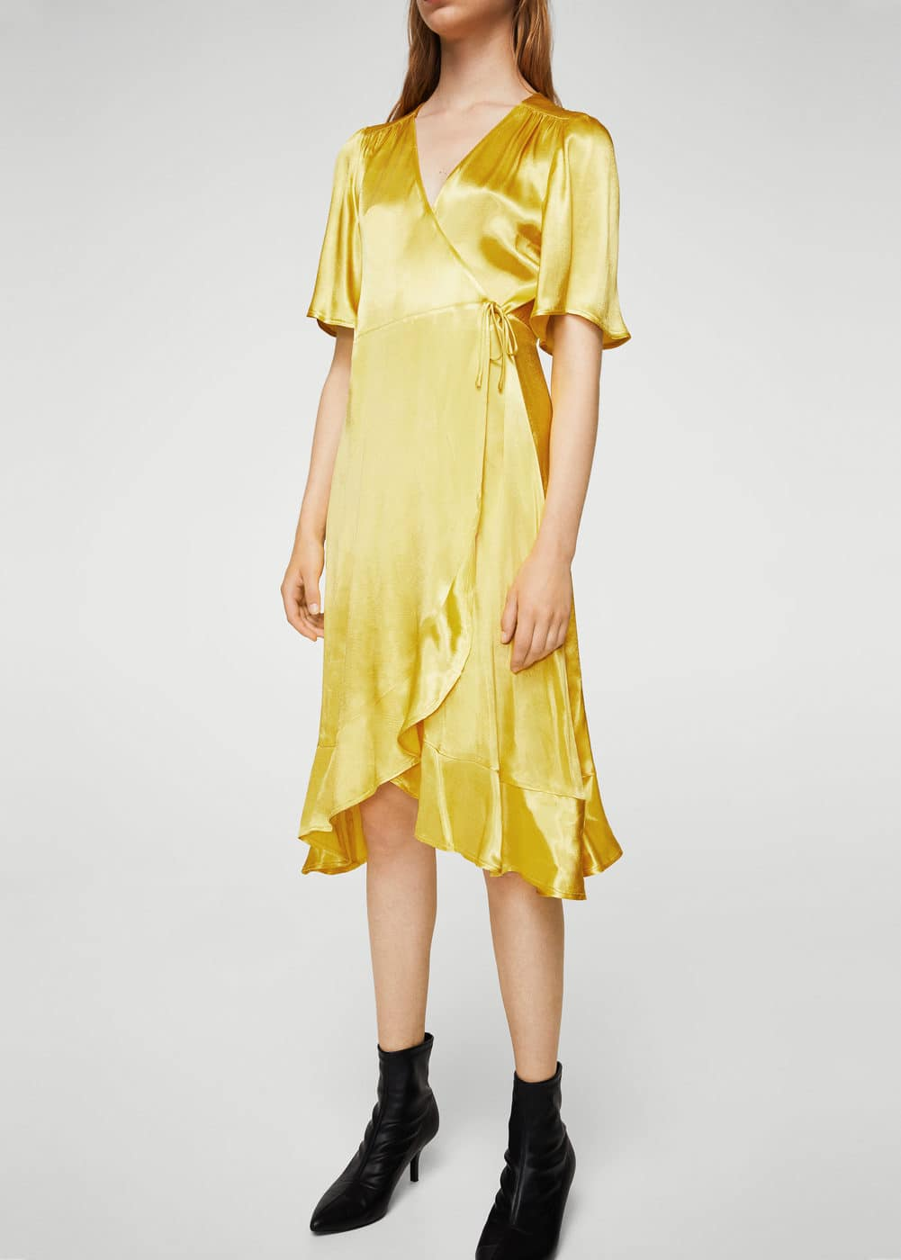 Ruffle wrap dress | MANGO