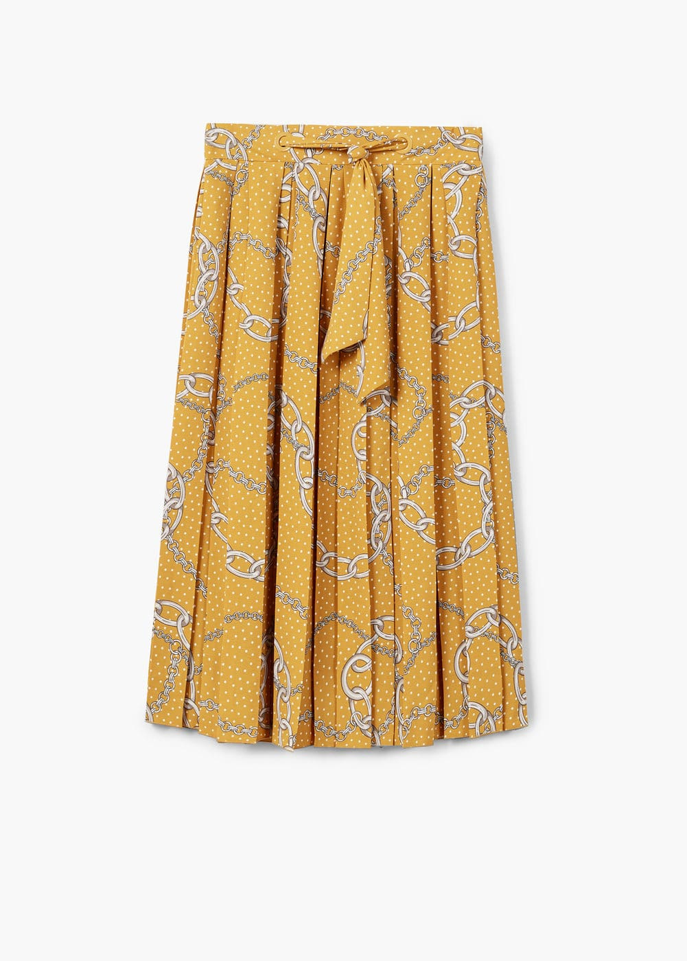 Chain print pleated skirt | MANGO