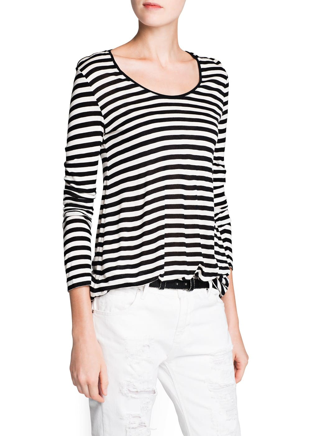 Oversize striped t-shirt | MANGO