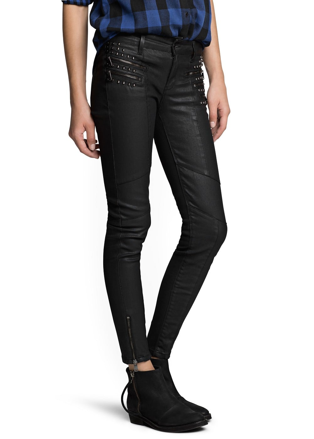 Super slim-fit coated vivian jeans | MANGO