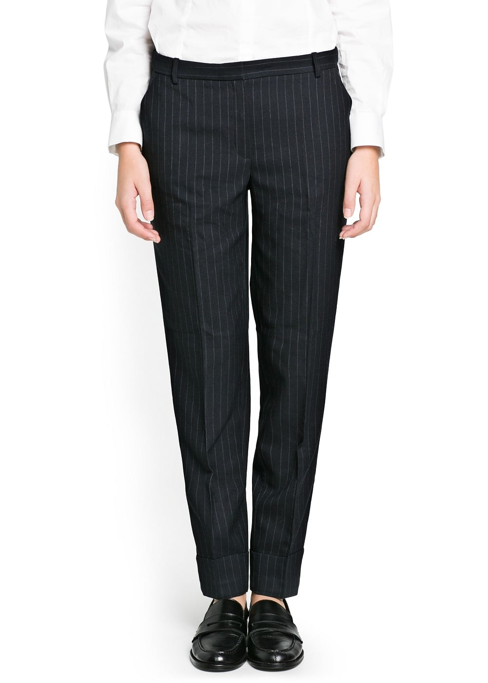 Pinstripe suit trousers | MANGO