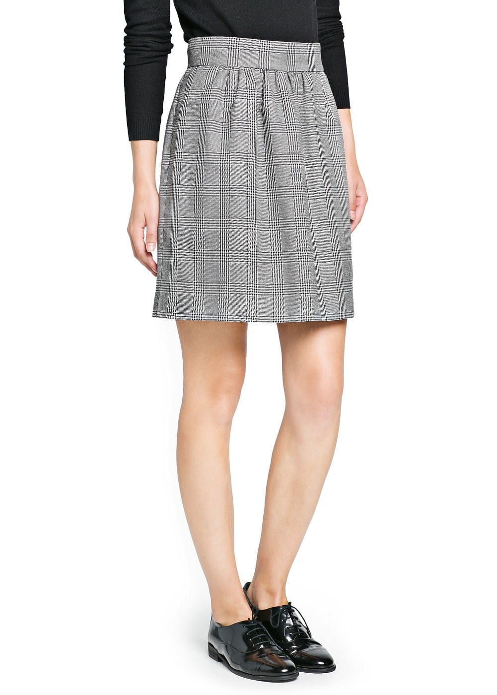 Prince of wales flared skirt | MANGO