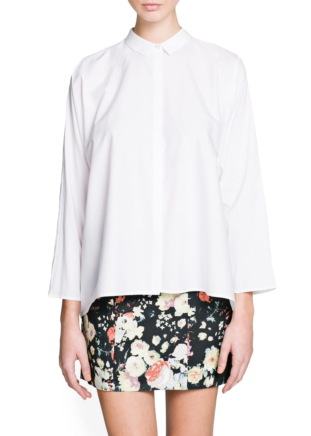 Boxy cotton shirt | MANGO