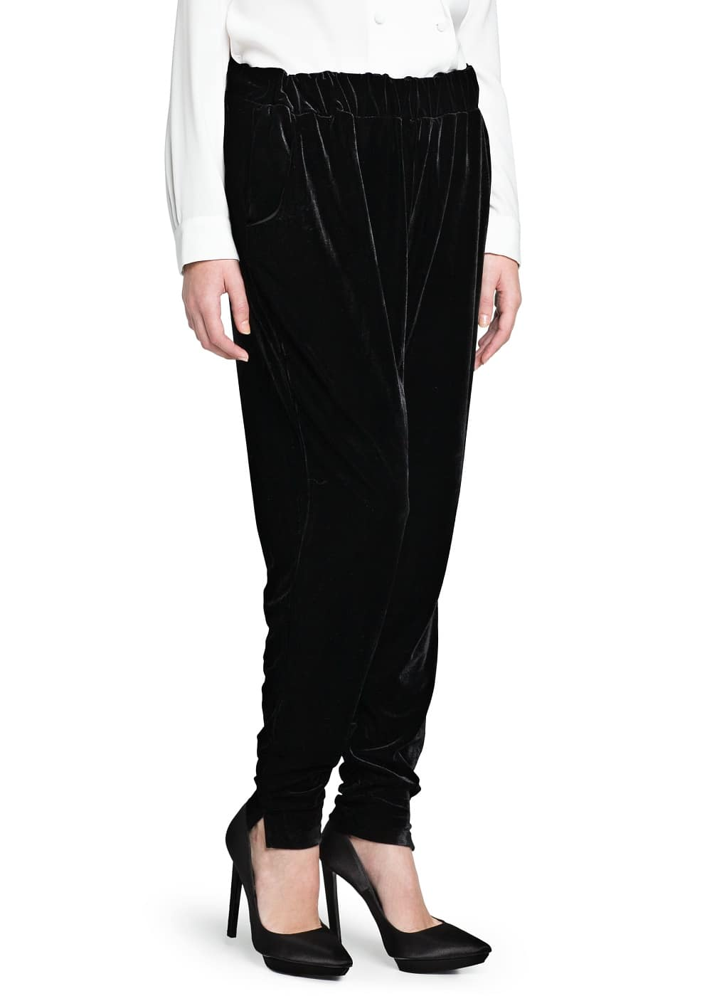 Baggy velvet trousers | MANGO