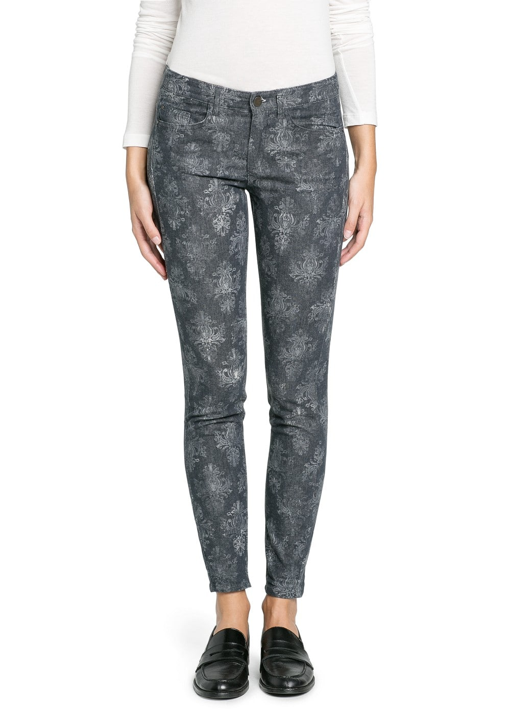 Slim-fit baroque print trousers | MANGO