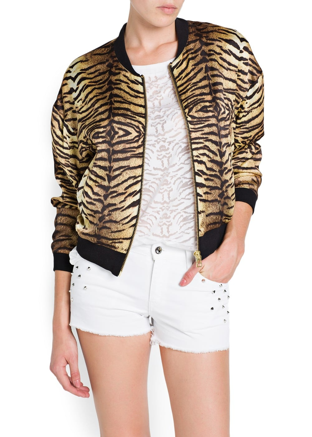 Animal print bomber jacket | MANGO