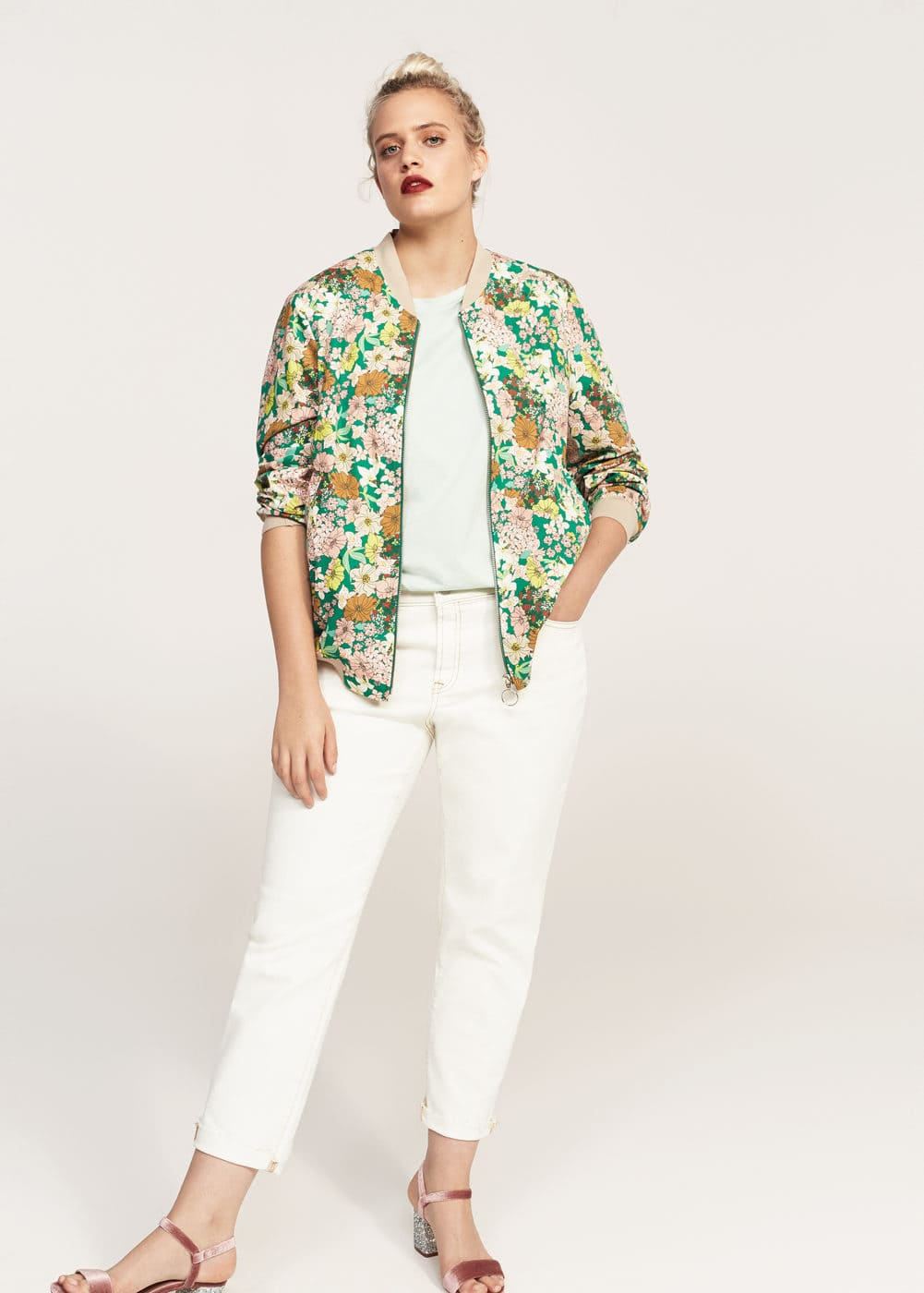 Bomber stampa floreale | VIOLETA BY MANGO