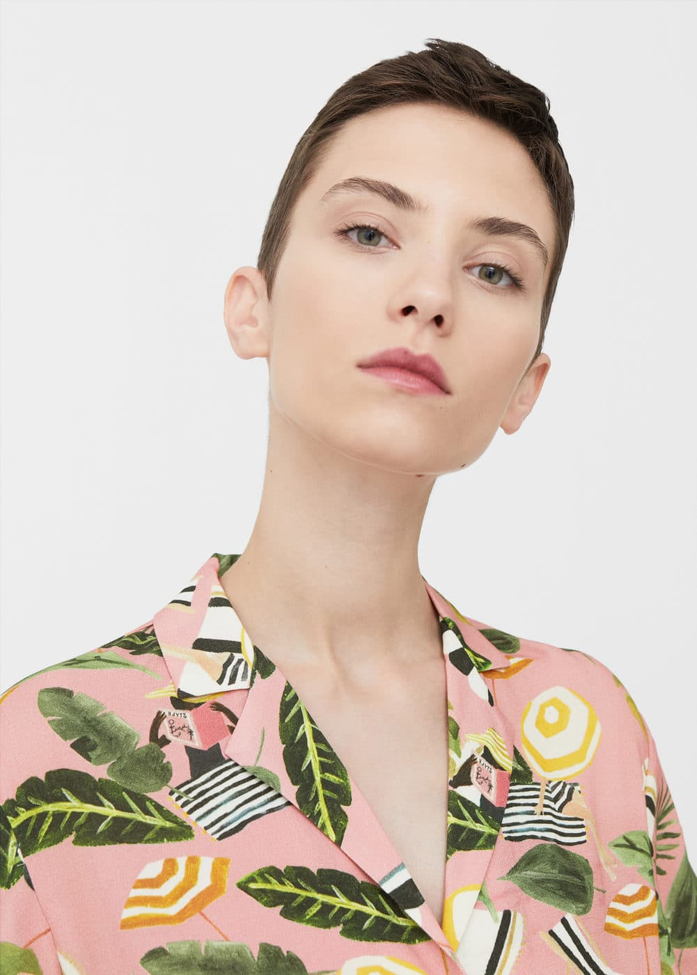 Tropical print shirt | MANGO