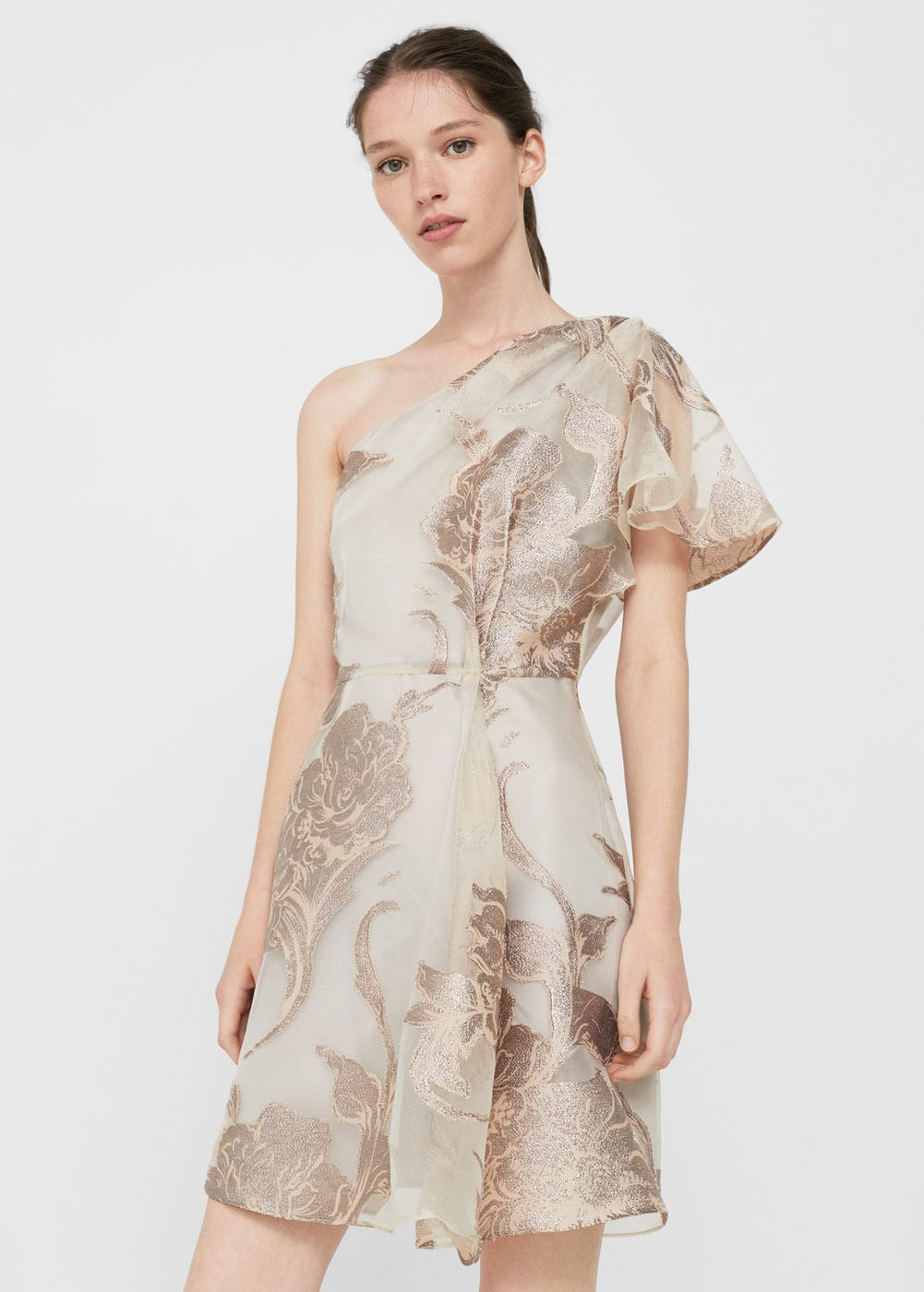 Metallic organza dress | MANGO
