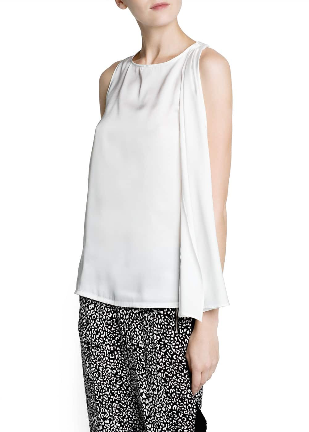 Ruched panel flowing top | MANGO