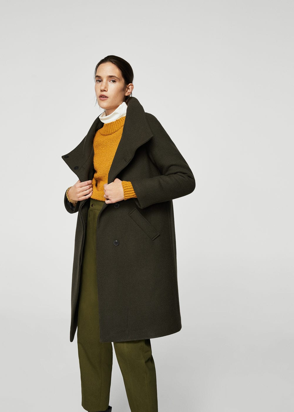 Wool-blend quilted coat | MANGO