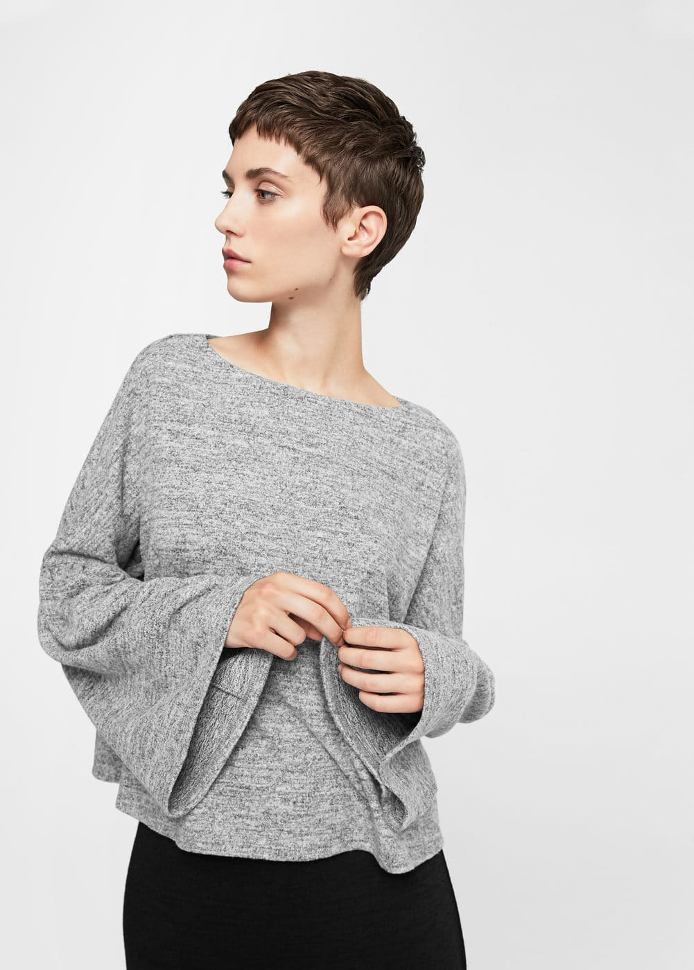 Oversize flecked sweater | MANGO