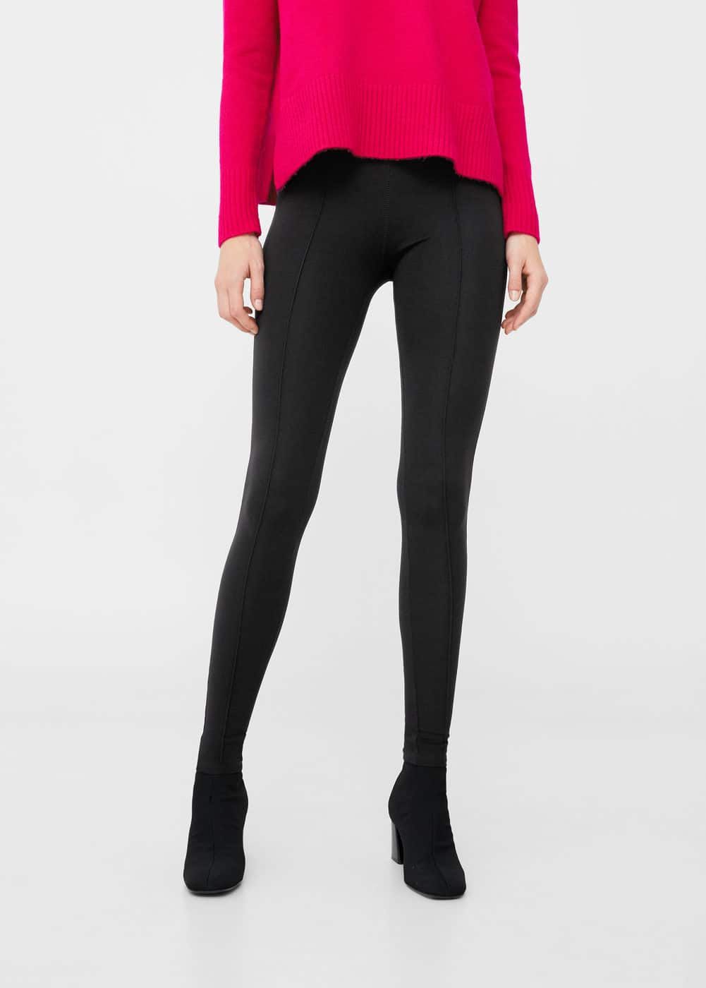Leggings costuras decorativas | MANGO