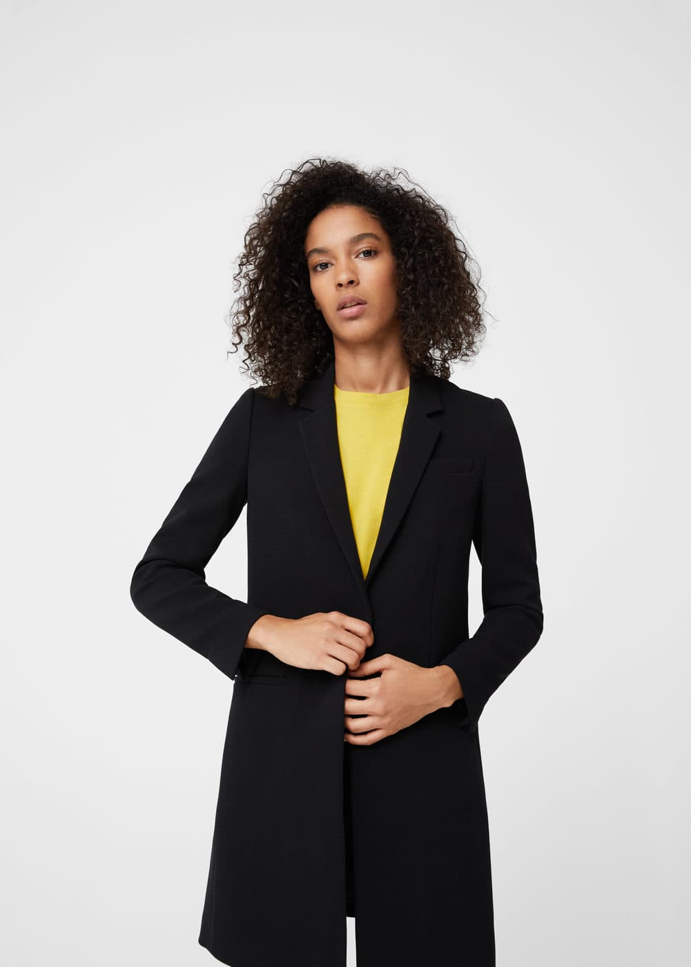 Masculine structured coat | MANGO