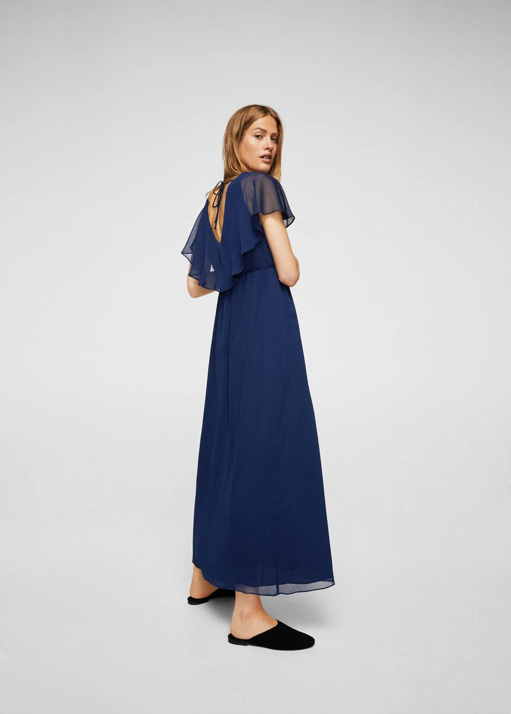 Double-layer long dress | MANGO