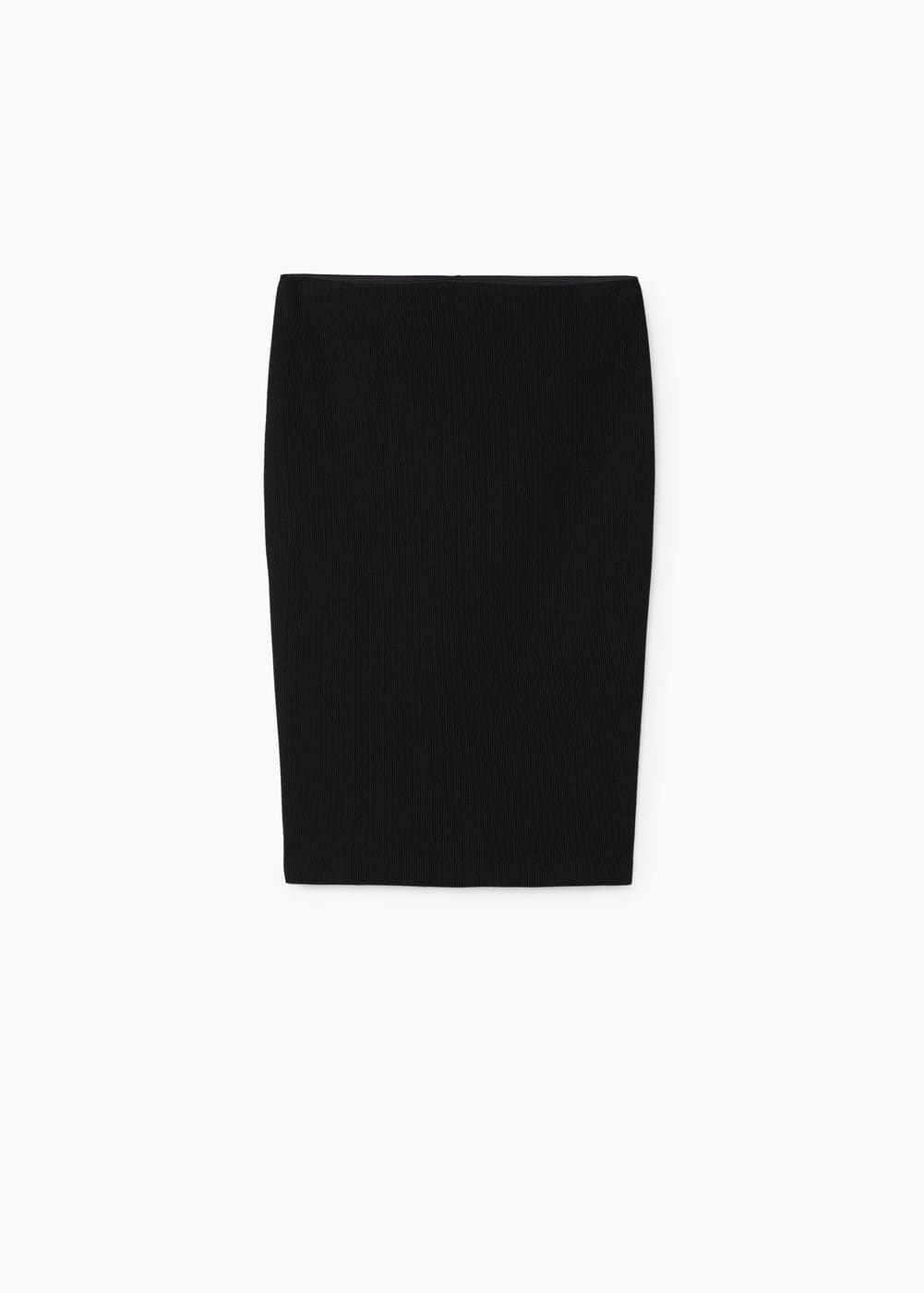 Cotton pencil skirt | MANGO