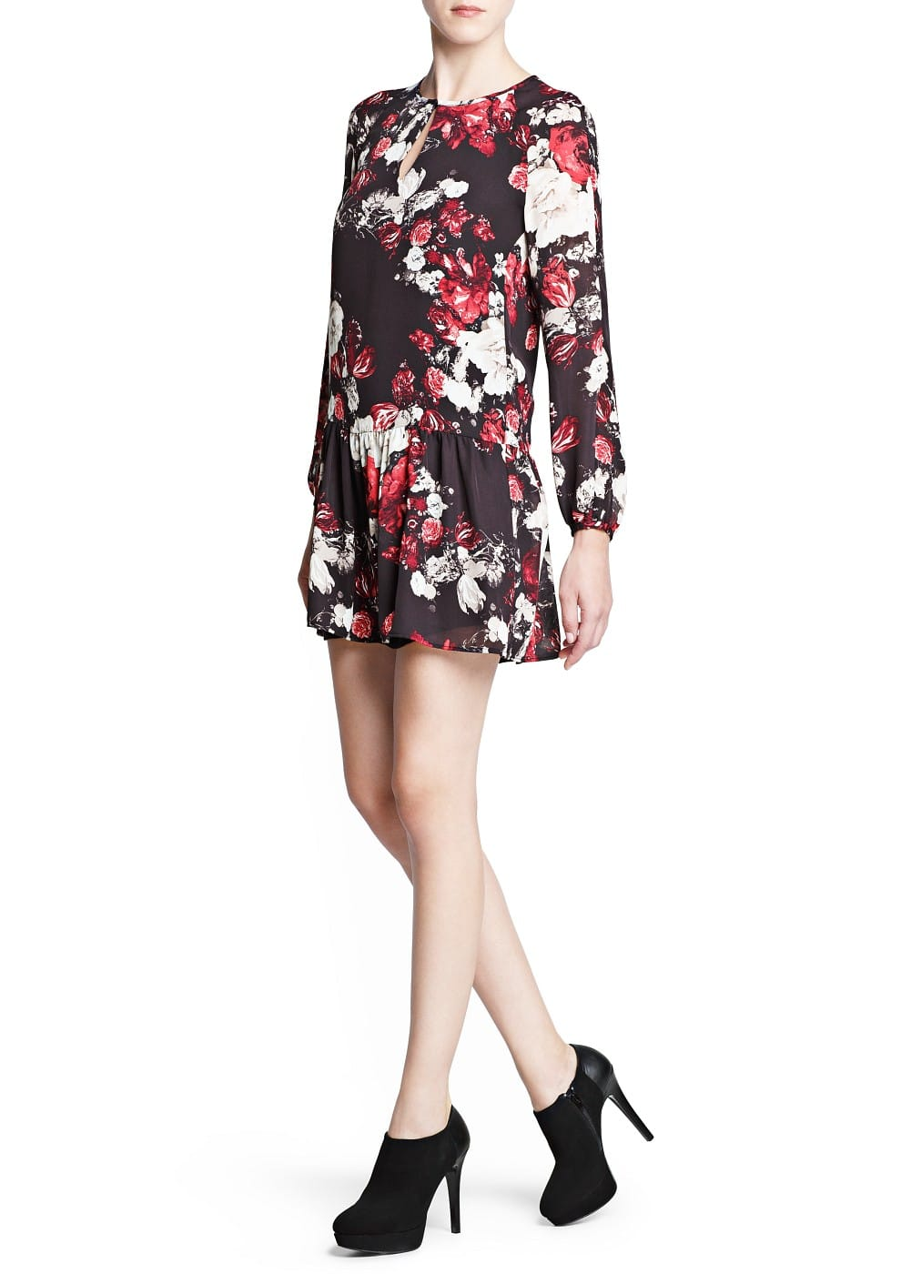 Floral print flowy dress | MANGO