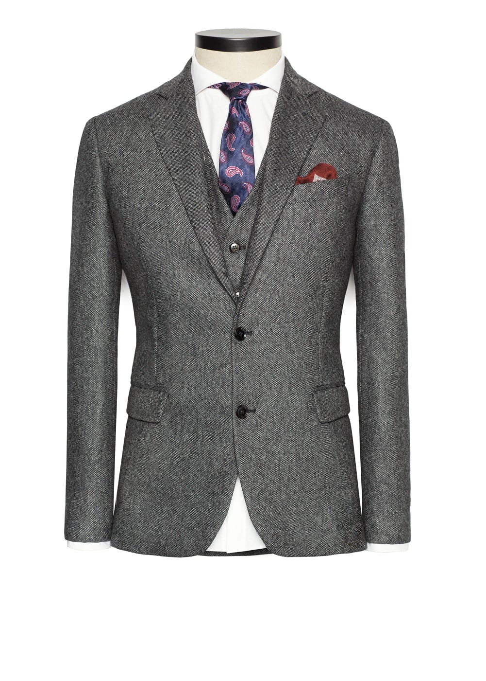 Tweed suit blazer | MANGO