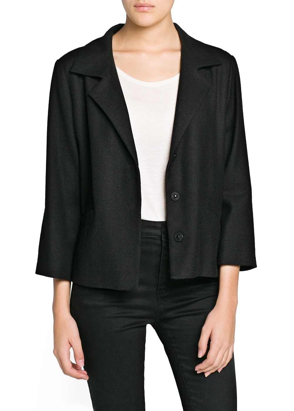 Unstructured wool-blend blazer | MANGO