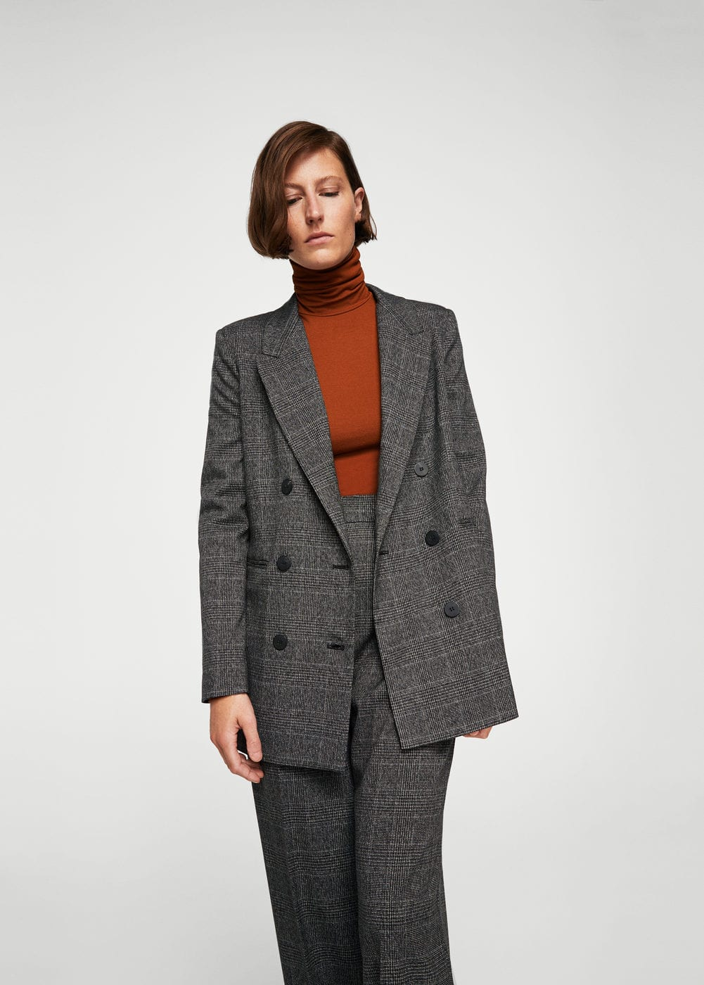 Check structured blazer | MANGO