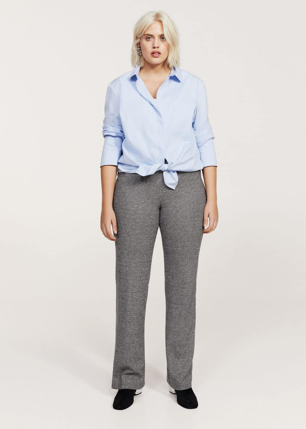 Mini houndstooth trousers | VIOLETA BY MANGO