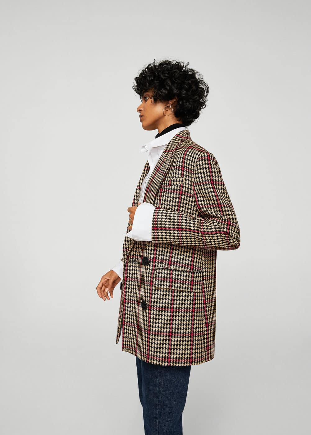 Houndstooth structured blazer | MANGO