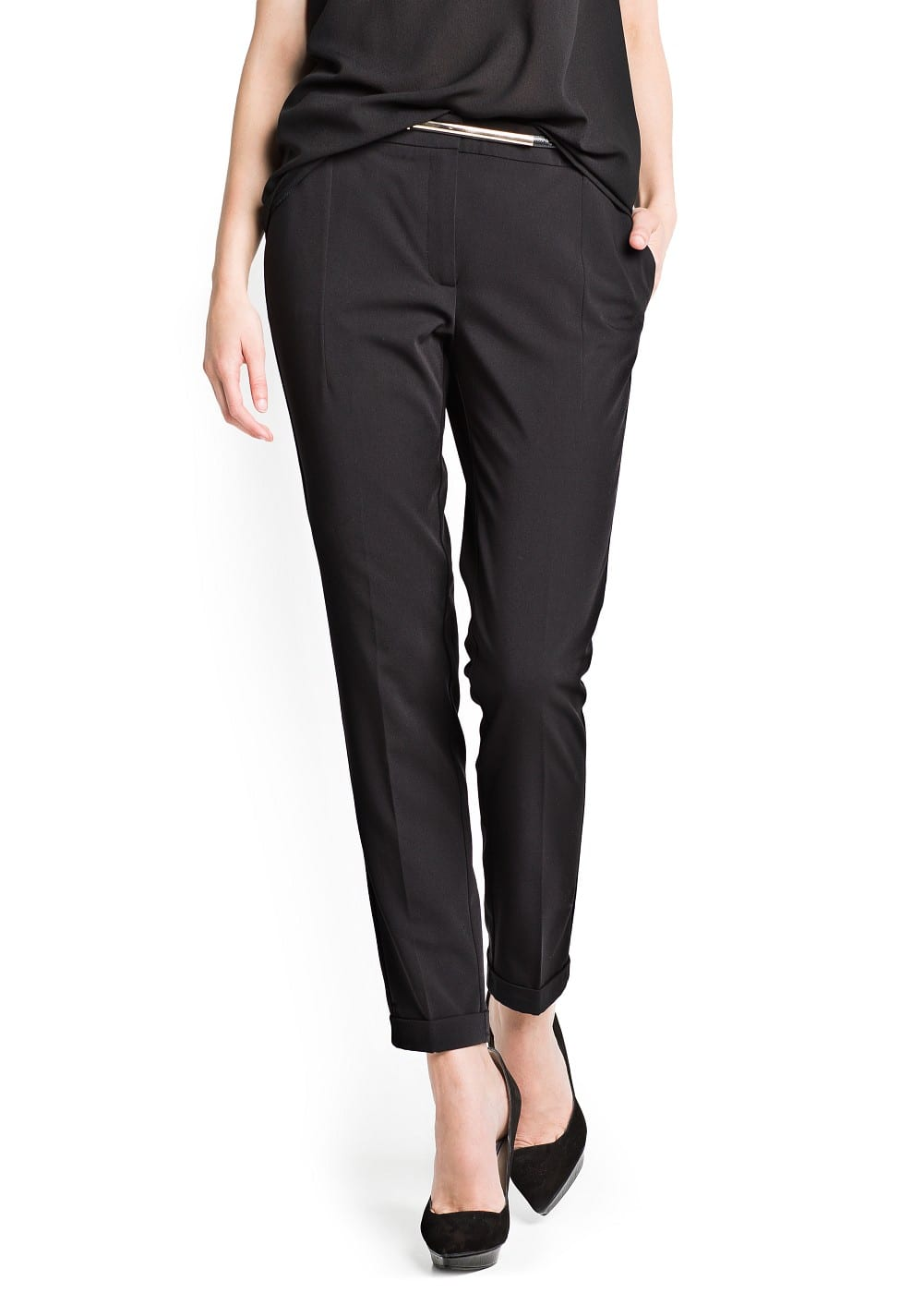 Belted sartorial trousers | MANGO