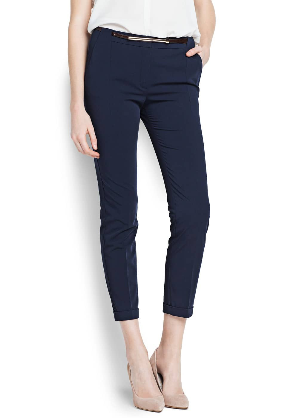 Belted sartorial trousers   MANGO