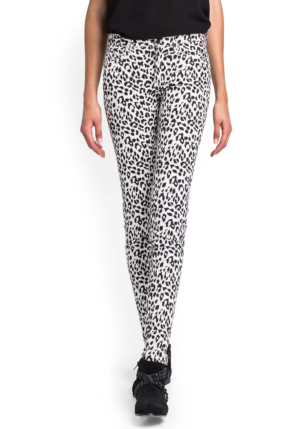 Animal print slim-fit trousers | MANGO