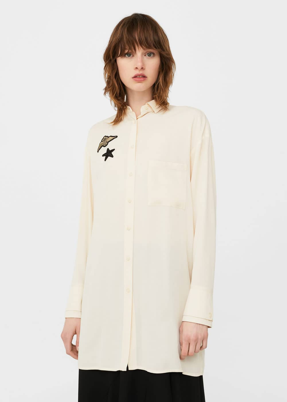 Patches long shirt | MANGO