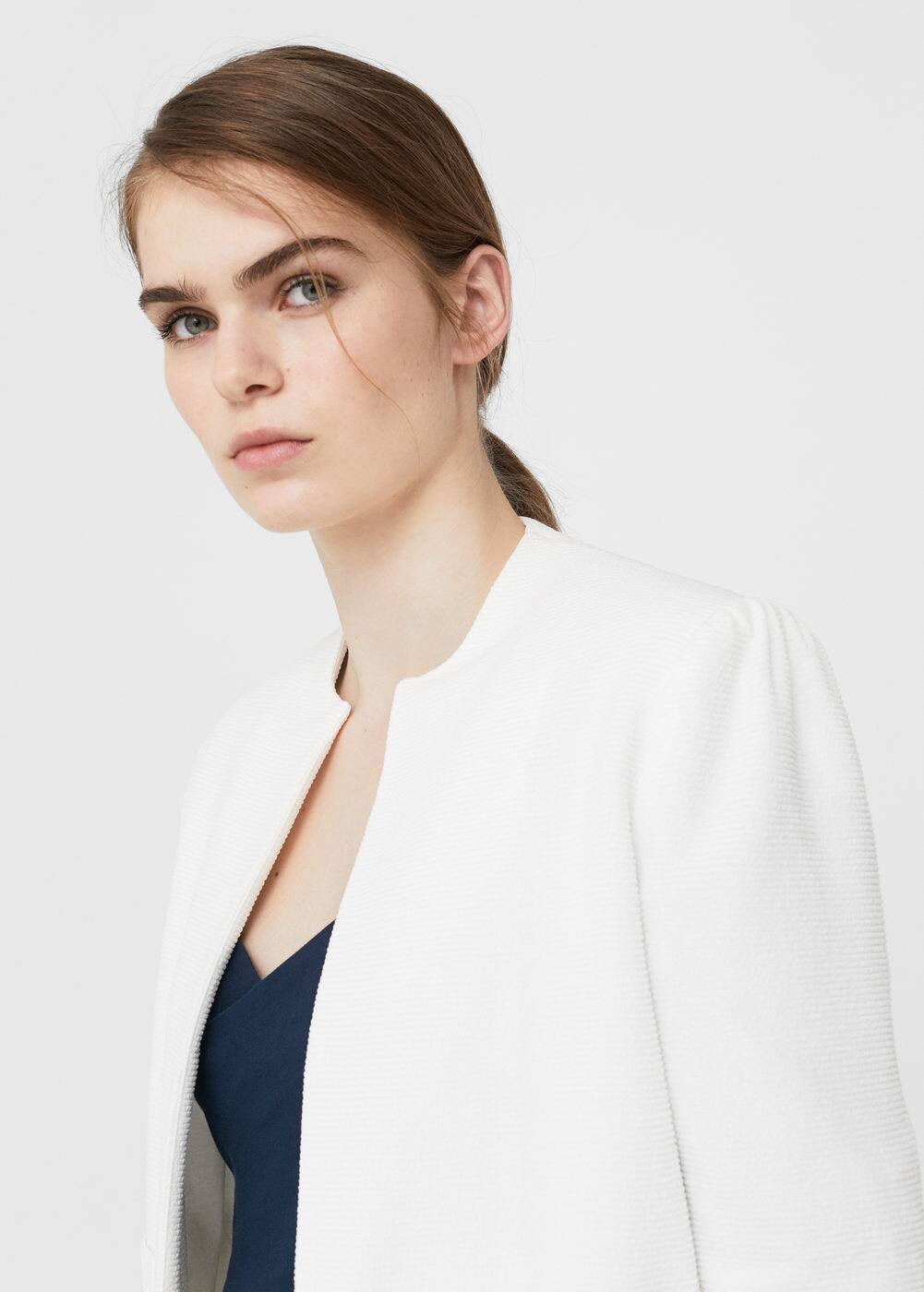 Padded shoulder jacket | MANGO