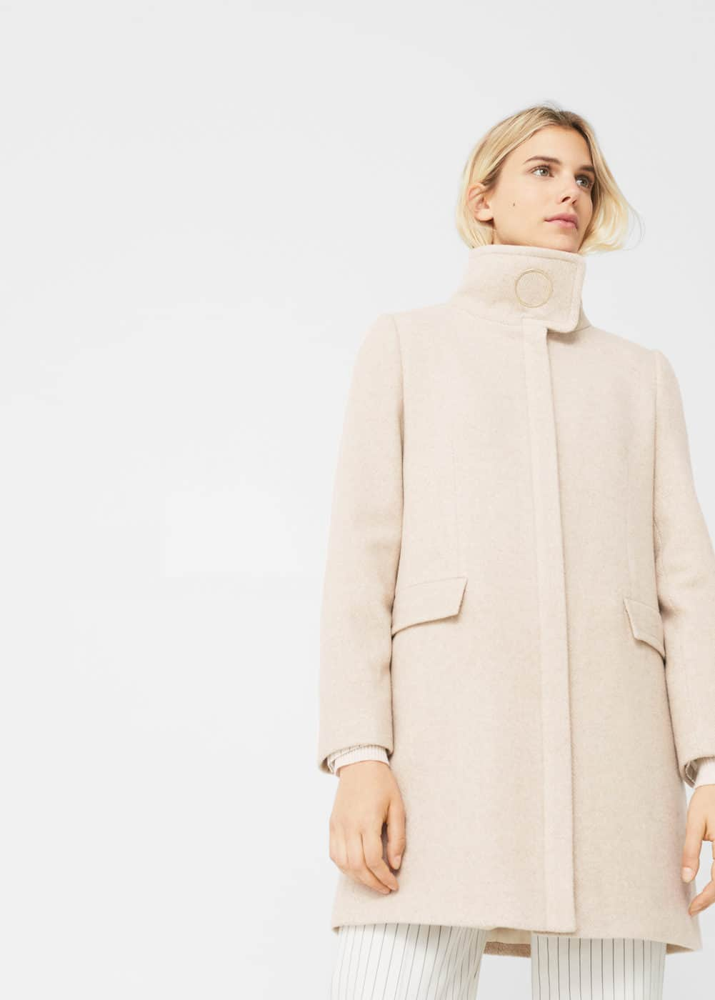 Ring wool coat | MANGO