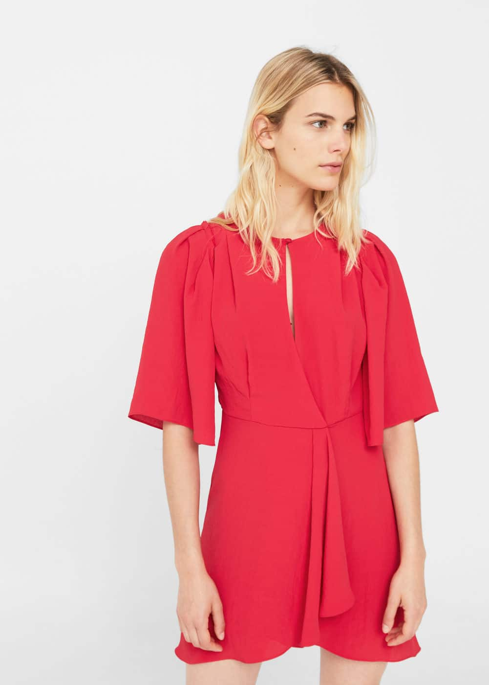 Flared sleeves dress | MANGO