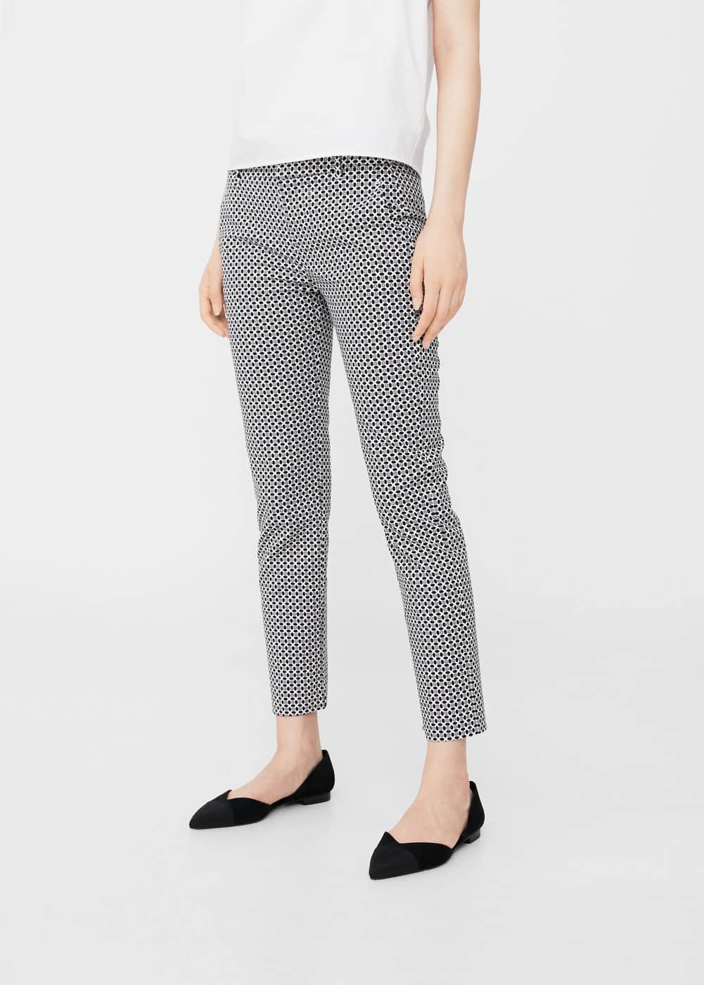Printed trousers | MANGO