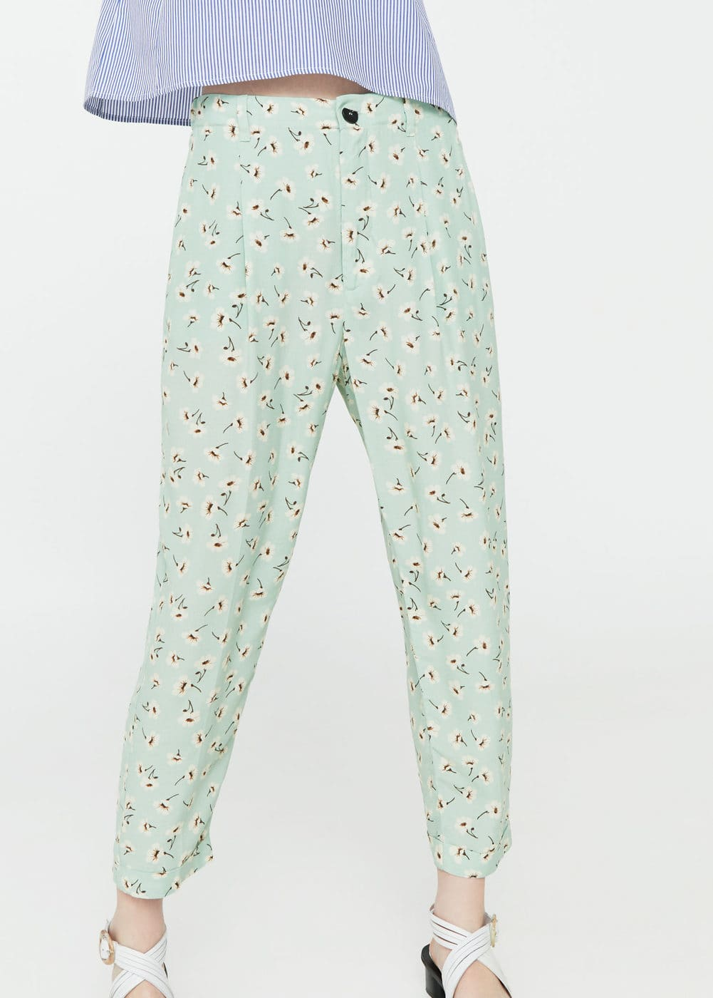 Flowy floral trousers | MNG