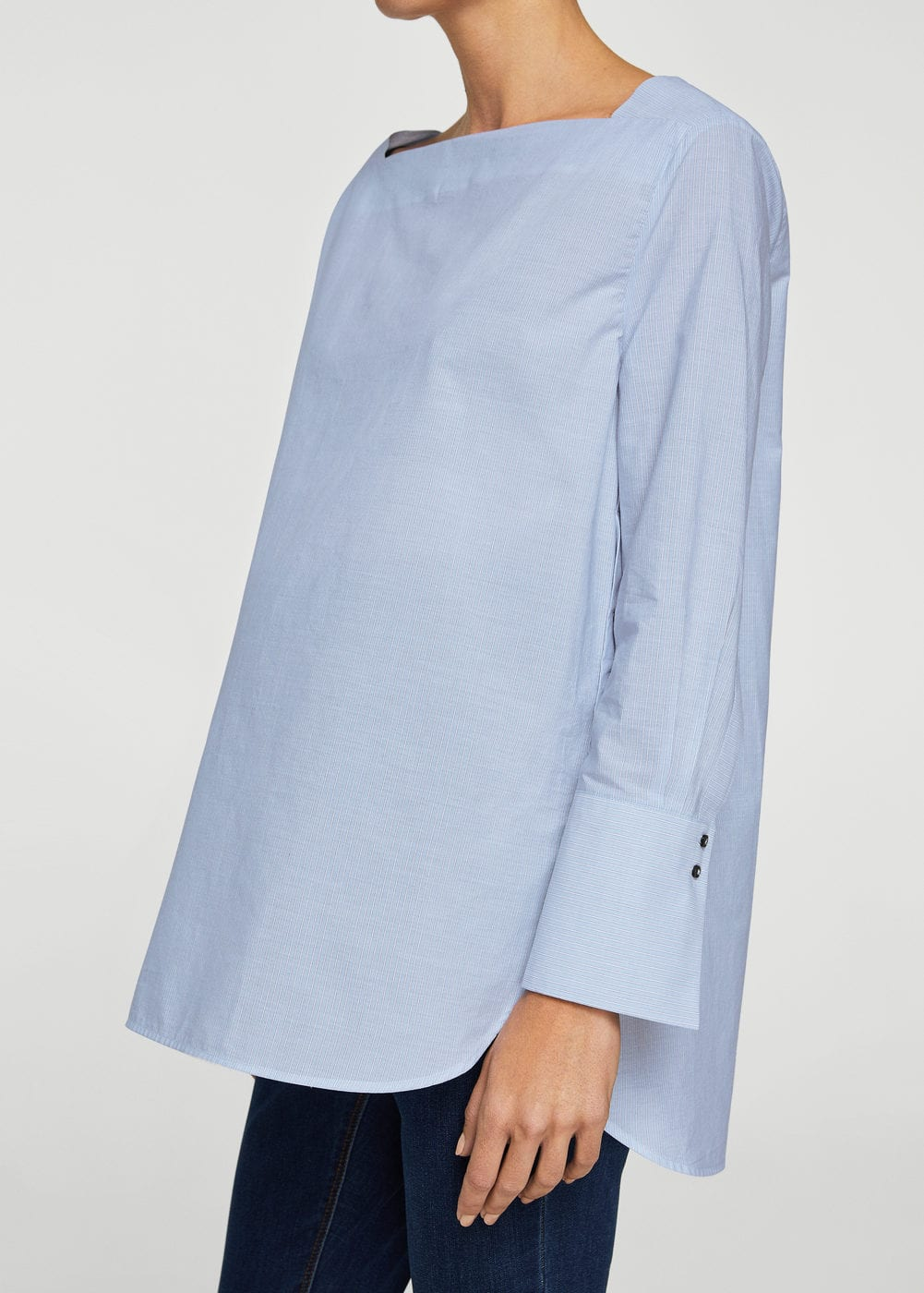 Buttons cotton blouse | MANGO