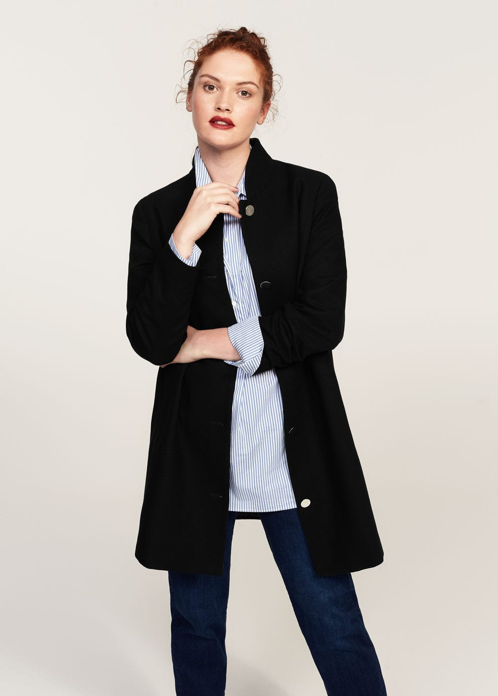 Buttoned cotton coat | MANGO