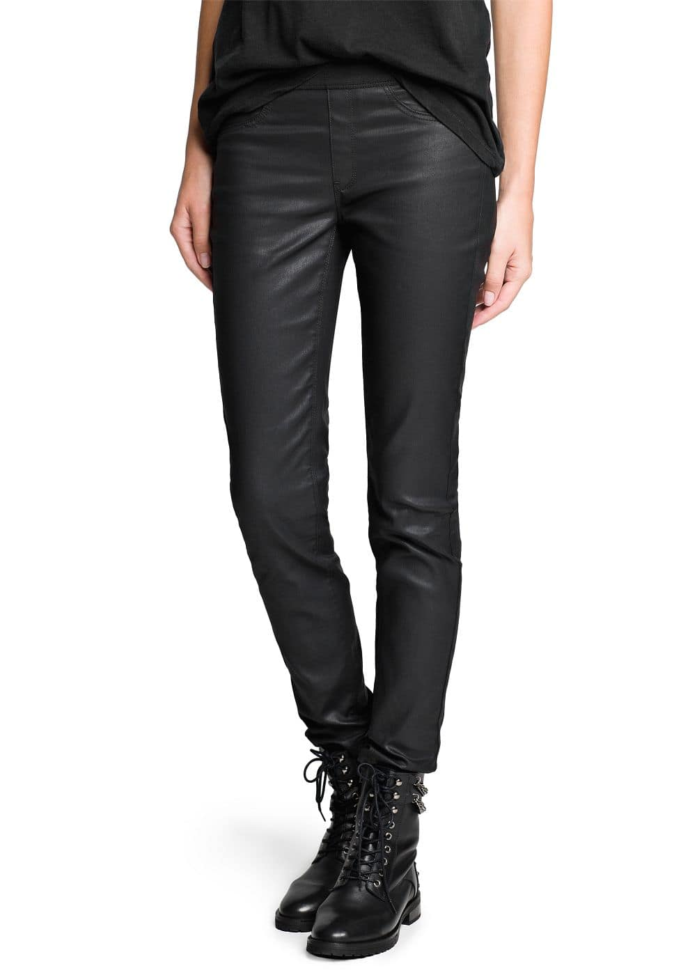 Coated cora jeggings | MANGO