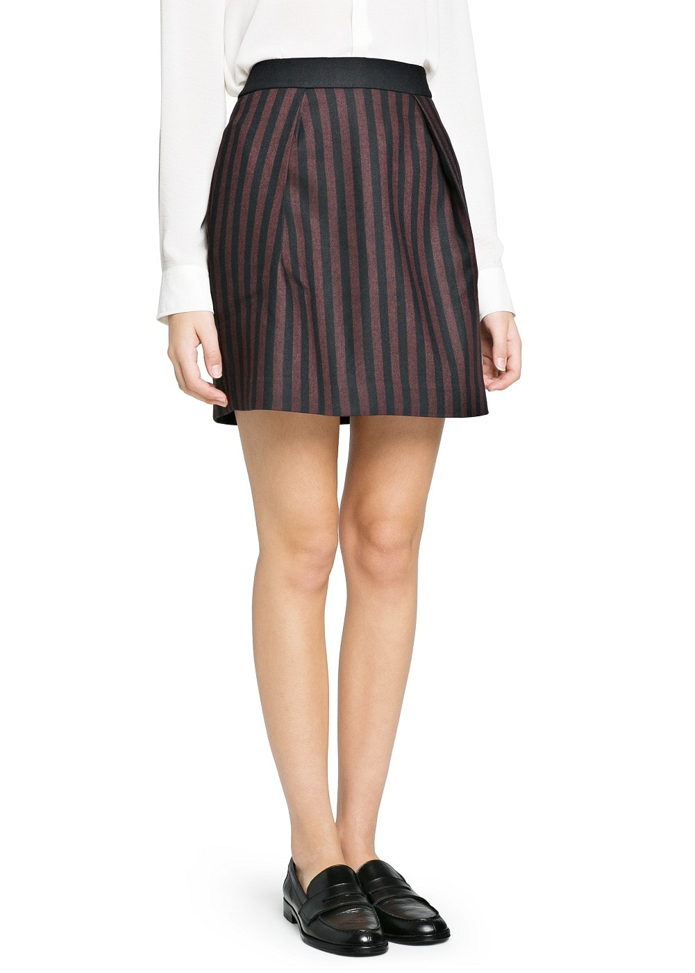 High-waist striped miniskirt | MANGO