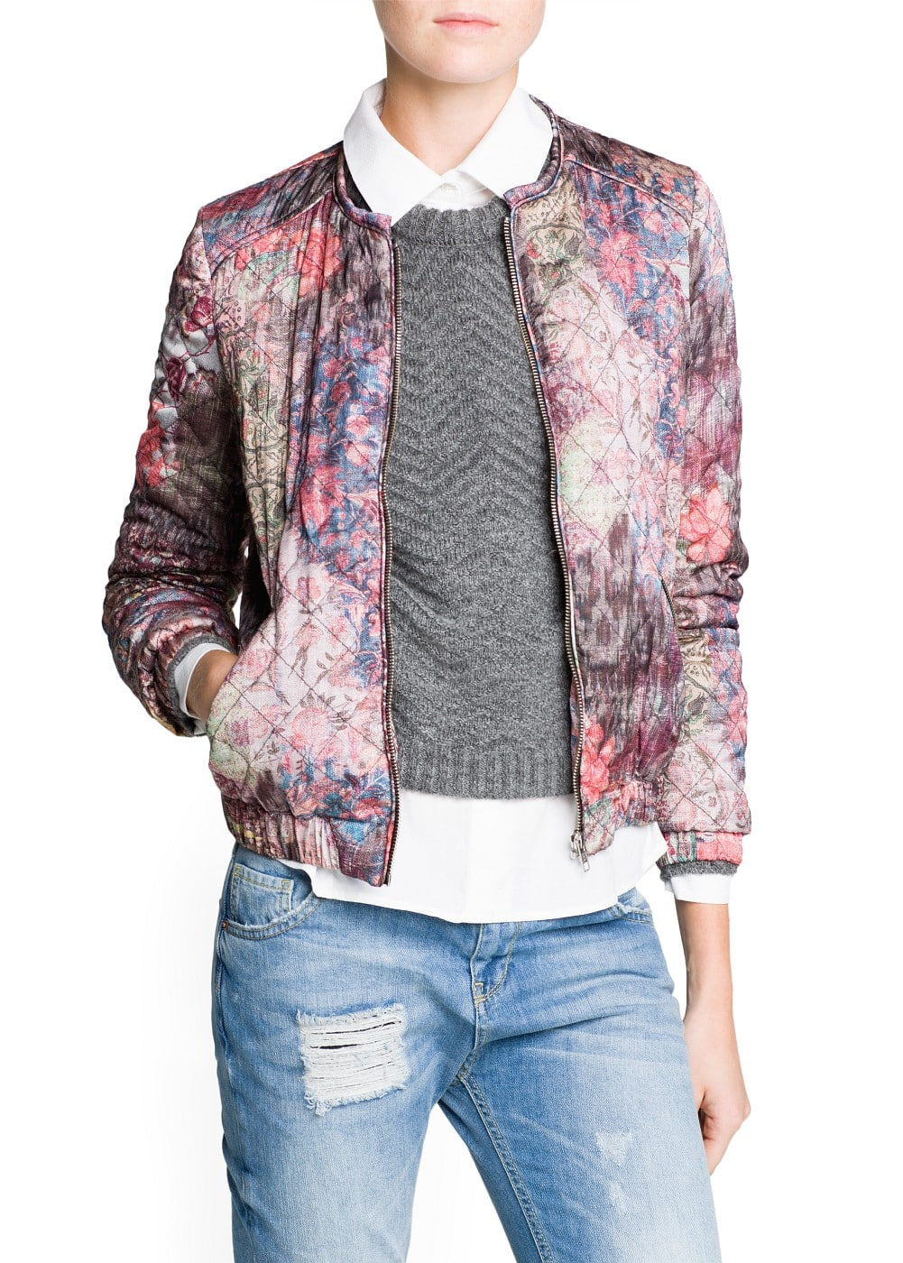 Tapestry floral print bomber jacket | MANGO