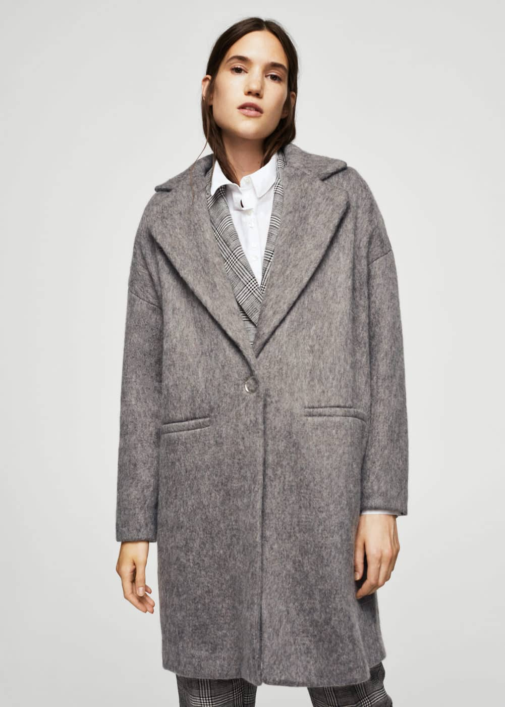 Unstructured mohair-blend coat | MANGO