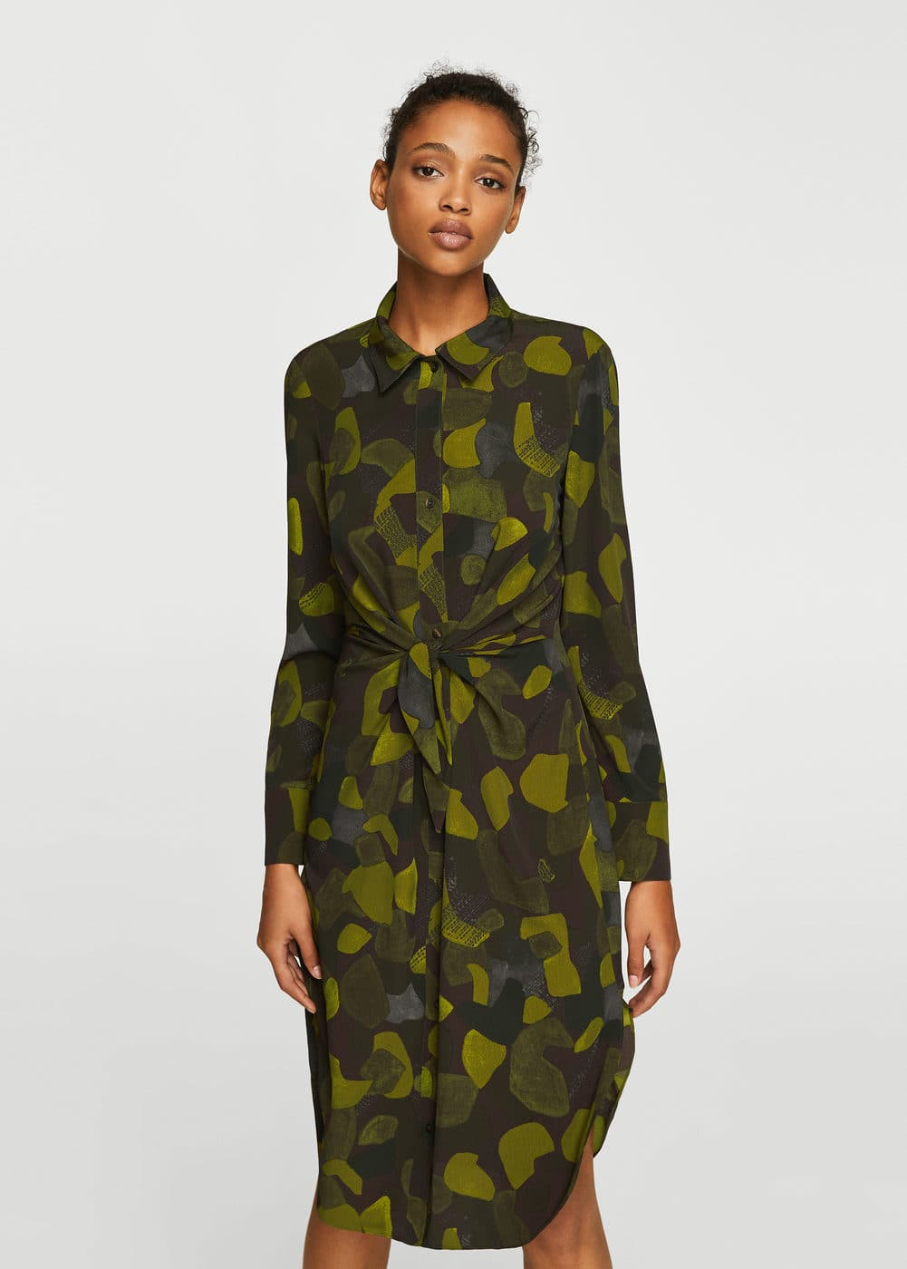 Knot camo-print dress | MANGO