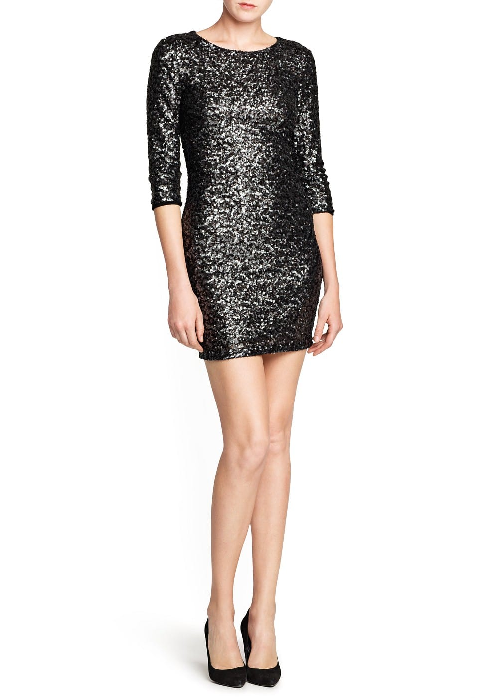 Sequined tailored dress | MANGO
