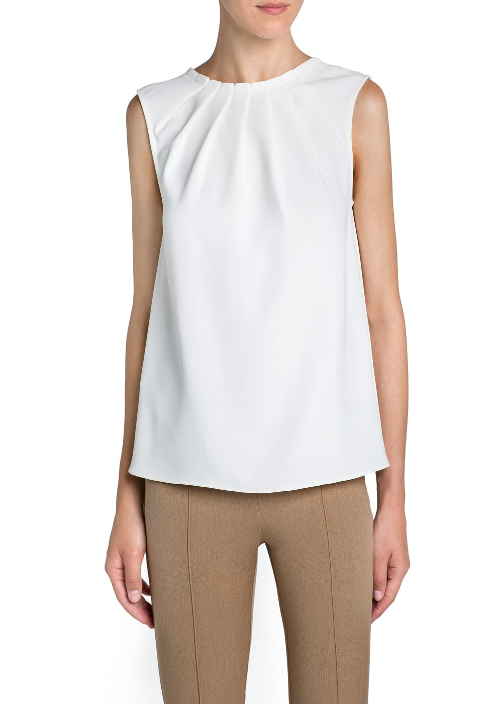 Pleated crepé blouse | MANGO
