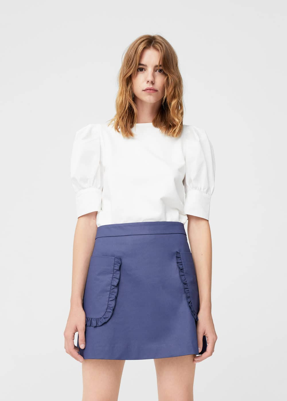 Pocket coated skirt | MANGO