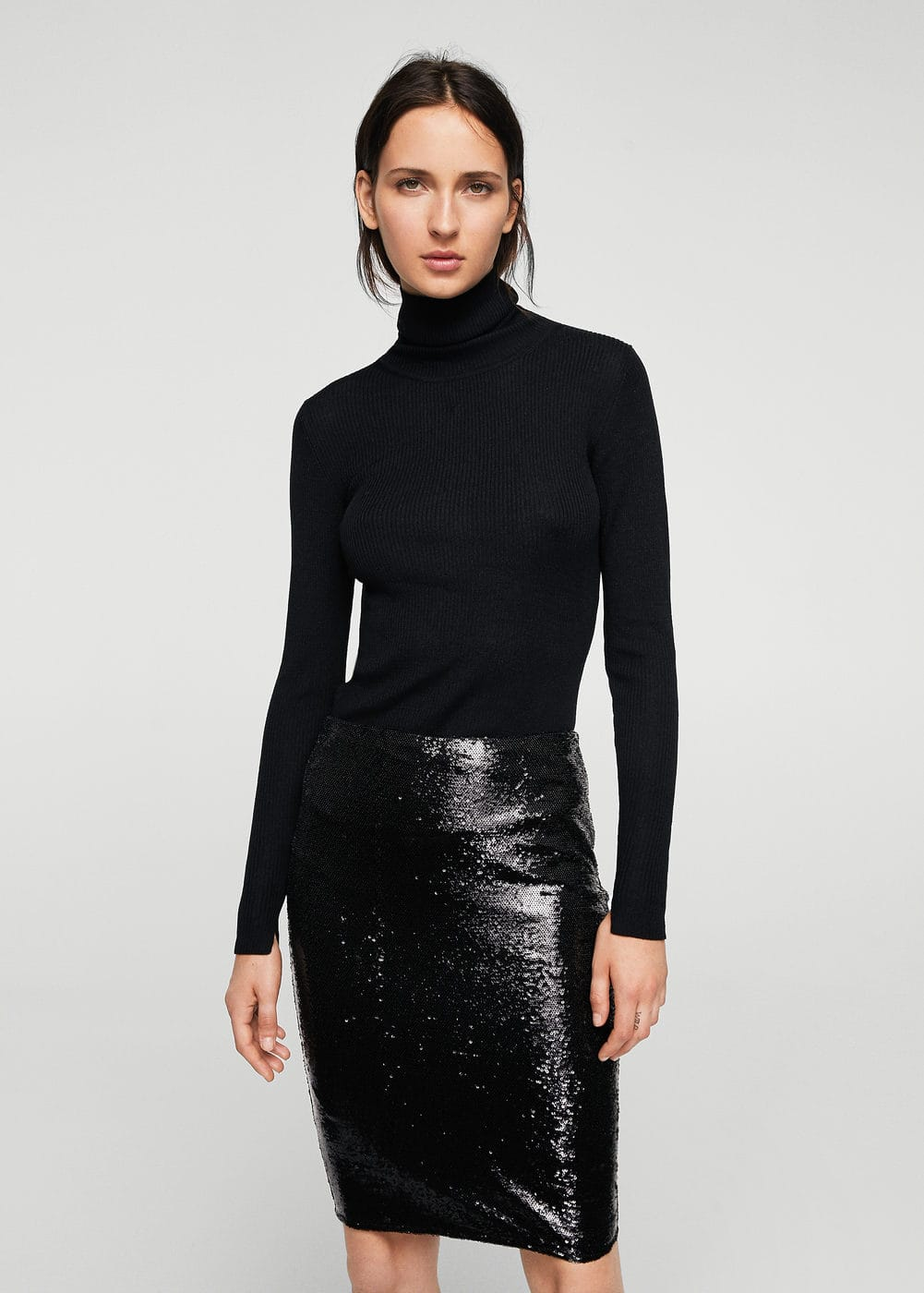 Sequin skirt | MANGO