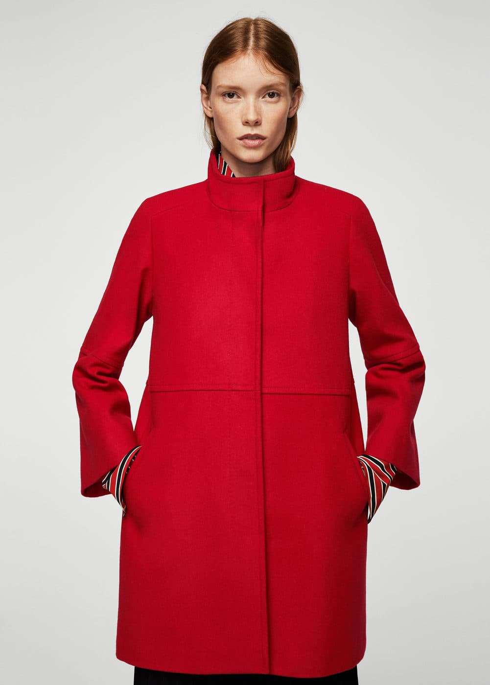 Straight-cut wool coat | MANGO