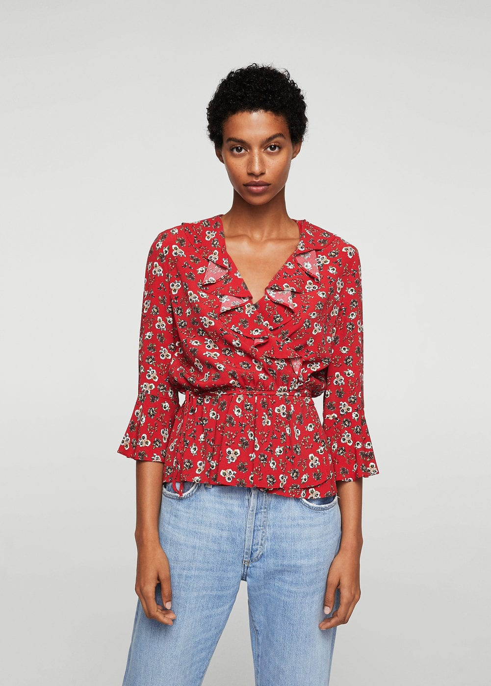 Blusa floral volantes | MNG